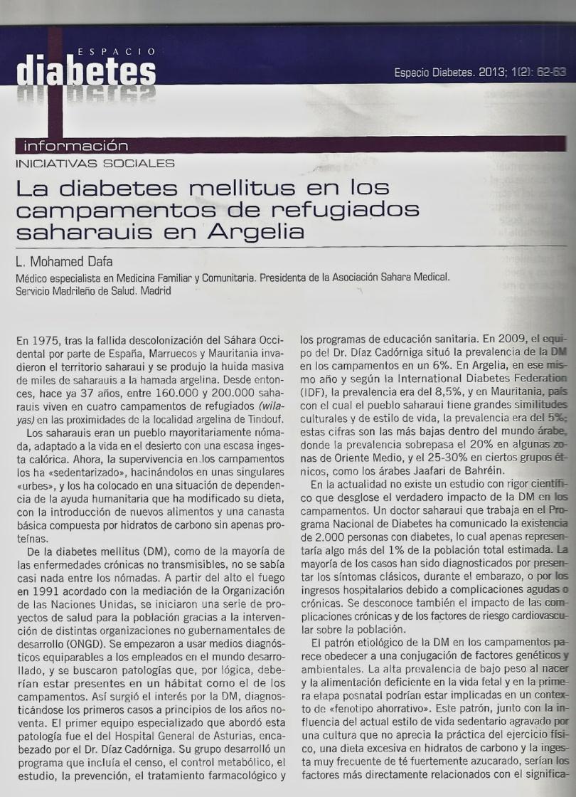 Lehdía Mohamed Dafa   Voz del Sahara Occidental en Argentina