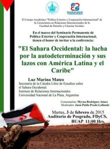 cartel Conf Sahara Occidental